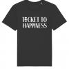 Ticket to Happiness - T-Shirt - Black - Men - Merch - Shop - Happiness Shirt