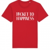 Ticket to Happiness - T-Shirt - Red - Men - Merch - Shop - Happiness Shirt